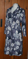 BNWT, Ladies, Vintage, Grey, Casual, Party, House, Dress, With Belt, size 14