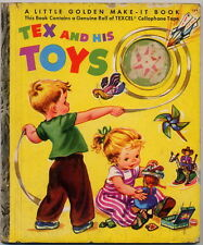 455 TEX AND HIS TOYS - 1952 BY SIMON AND SCHUSTER E.R. Nath -Old children's book