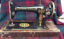 Collectable SINGER Hand Crank MANUAL Sewing Machine 66K c1920 Display/prop