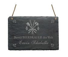 Schiefertafel « BESTER BIERBRAUER » Name Schild Brauerei Bier Geschenk Türschild