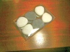 Set de 12 galets coeur en pierre polie