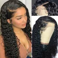 Curly Wavy Malaysian Virgin Human Hair Wig Lace Front Wig Full Lace Wig Black Kl