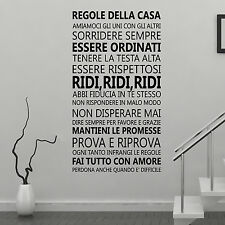 Decal Decoration Bedroom Quote Home Wall Stickers Italian Family 60cm x 110cm