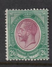 SOUTH AFRICA SG14 1913 2/6 PURPLE & GREEN MTD MINT