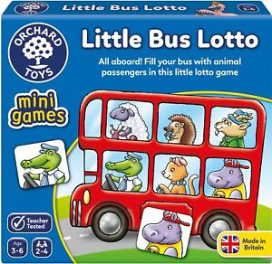 Orchard Toys MINI GAME LITTLE BUS LOTTO Educational Game Puzzle - BN