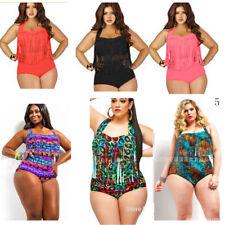 Women Sexy Plus Size Swimwear Bikini Set High Waist Bathing Suit Swimsuit Ruffle