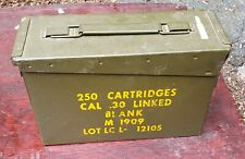 Military 30 CAL M19 Metal AMMO CAN 7.62mm .30 CALIBER - Mount Vernon