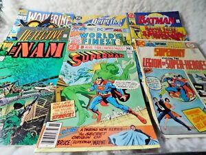 DC & Marvel Comicbook Lot (9) Superman Batman Wolverine Spiderman