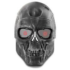 Airsoft Paintball Skull Skeleton Metal Mesh Eye Full Face Mask Game Protect
