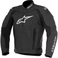 Giacche copertura in pelle regolabile per motociclista