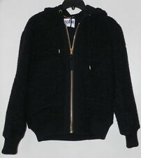 MOSCHINO COUTURE WOOL BLEND HOODED CASUAL OUTWEAR BLACK JACKET Sz. 6 US / 40 IT