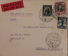 J) 1930 CHILE, MULTIPLE STAMPS, AIRMAIL, CIRCULATED COVER, FROM CHILE TO HAMBOUR