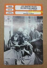 US Drama Little Women Katharine Hepburn George Cukor French Film Trade Card