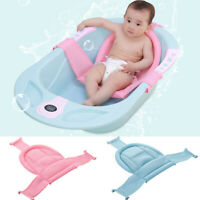 Baby Shower Bath Tub Pad Non-Slip Bathtub Seat Support Mat Pillow Newborn Safety
