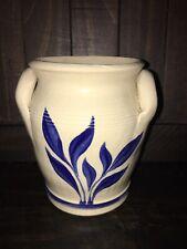 Williamsburg Pottery Salt Glaze Stoneware Vase with 2 Handles