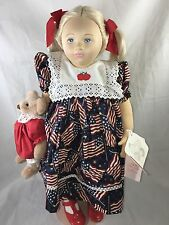 Dolls By Pauline Pauline's Limited Edition Signed 208/950 Little Miss Liberty