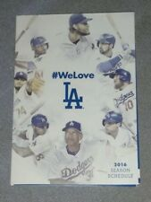 2016 LOS ANGELES DODGERS POCKET SCHEDULE Mint Condition