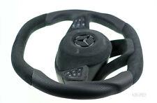 custom Mercedes steering wheel thicker square top flat bottom Alcantara COMPLETE