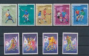 LO29015 Mauritania olympics football cup sports fine lot MNH