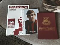 West Ham United programme fare well to Boleyn, Bobby Moore cup, Martin Peters