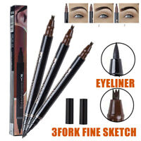 Microblading Tattoo Eyebrow Ink Pen Lasting Eye Brow 3D 3 Fork Tip Makeup Pencil