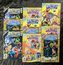 Vintage 1983 DC Amethyst Princess of Gemworld Comic Book Lot of (10) Maxi Series