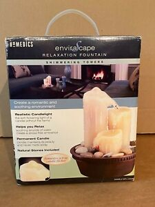 HoMedics EnviraScape WFL-CAN32 Shimmering Towers Illuminated Relaxation Fountain