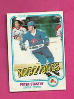 1981-82 OPC # 269 NORDIQUES PETER STASTNY ROOKIE GOOD CARD (INV# D0480)