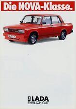 Lada Nova Prospekt ca. 1986 Autoprospekt Broschüre brochure brosjyre Auto PKWs
