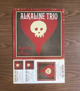 ALKALINE TRIO AGONY & IRONY TWO SIDED POSTER 12X17 FOLDED EPIC RECORDS