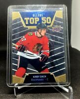 2019-20 Upper Deck Allure Kirby Dach Top 50 T50-2 Rookie Chicago Blackhawks