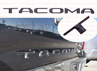 Double Layer Tailgate Insert Letters fits 2016-2021 Toyota Tacoma flat black