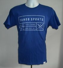 MENS YAHOO SPORTS SCORES STATE & NEWS T SHIRT MEDIUM BLUE SUNNYVALE 1995