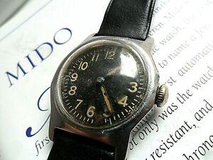 S/S Vintage 1940's Men's Mido Multifort Swiss 17J Bumper Automatic 5206 Watch