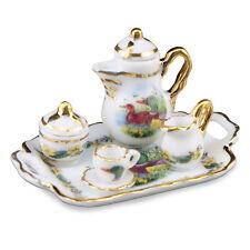 Reutter Porzellan Kaffeetablett Ente Wild Duck Coffee Set Tray Puppenstube 1:12