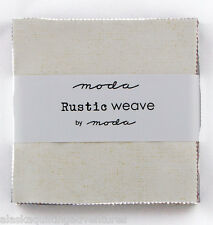 """Moda FABRIC Charm Pack ~ RUSTIC WEAVE ~   42 - 5"""" squares"""