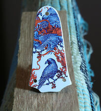 Truss rod cover BIRDS  Fits Taylor T5 GS mini 3 holes guitar Handmade