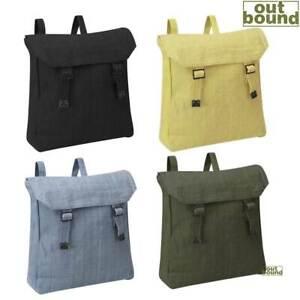 Canvas Bag Vintage Army Military Style Rucksack Work Tool Webbing Sack Backpack
