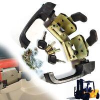 Universal Forklift Tractor & Heavy Equipment Locking Door Handle + Accessory