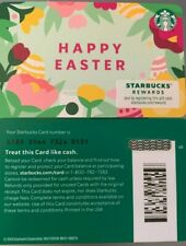 """2021 STARBUCKS """"HAPPY EASTER"""" GIFT CARD #6189 NO VALUE MINT"""
