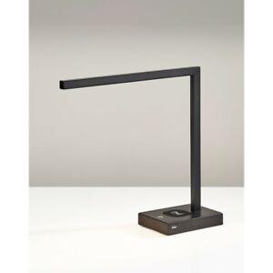 Adesso Aidan Charge LED Desk Lamp, Matte Black - 4220-01