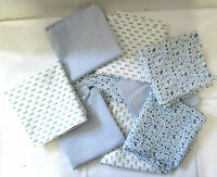 Mixed Fabric Pattern Bag Flour Sack Feedsack Pillow Quilt Sewing Material Lot 9
