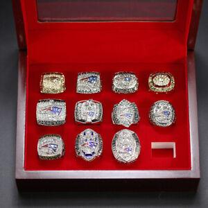 11Pc NFL New England Patriots AFC Championship Super Bowl Championships Ring Set