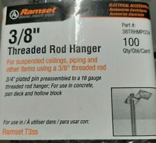 "Box Of 100 Ramset 3/8"" Threaded Rod Hangers, # 38Trhmp034"