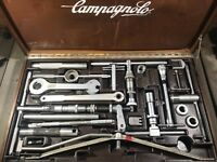 VINTAGE CAMPAGNOLO TOOL KIT MASTER FRAME BUILDING TOOLKIT CAMPY ITALY WOODEN BOX