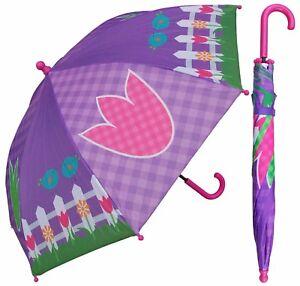 "Lot of 24 Pieces - 32"" Arc Children Garden & Birds Print Umbrella - RainStoppers"