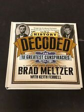 Brad Meltzer History Decoded The 10 Greatest Conspiracies Signed Autograph Book