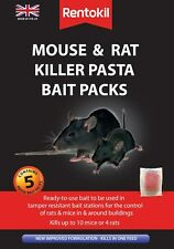 RENTOKIL MOUSE&RAT KILLER PASTA BAIT 5 SACHET PACK    NEW IMPROVED FORMULATION