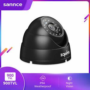 SANNCE 1pcs Dome 900TVL CCTV Camera Home Security System IP66 Night Vision UK