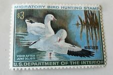Migratory Bird Hunting Conservation Stamp $3 Unused 1971 Ross's Geese